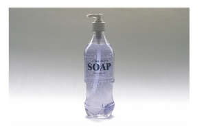 New soap in an old post consumer Coke bottle